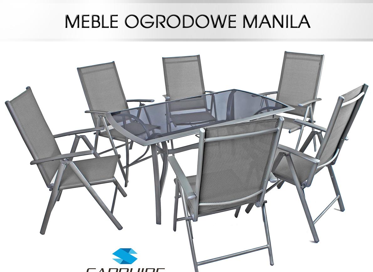 Meble Ogrodowe Aluminium I Drewno : ZESTAW MANILA MEBLE OGRODOWE 1+6 ALUMINIUM HIT1GW  5627792916