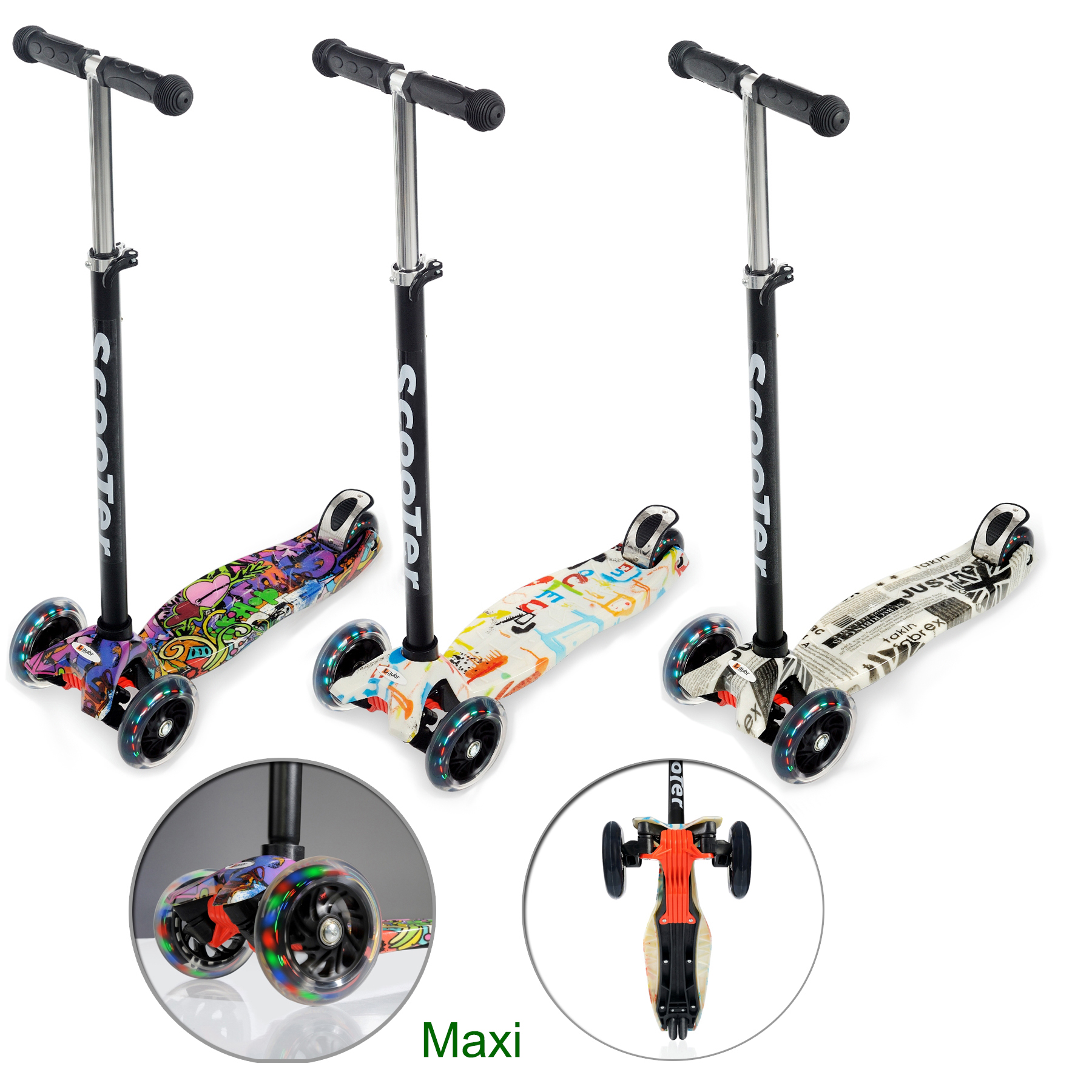 kinderroller cityroller kinder roller scooter tretroller dreirad klapproller ebay. Black Bedroom Furniture Sets. Home Design Ideas