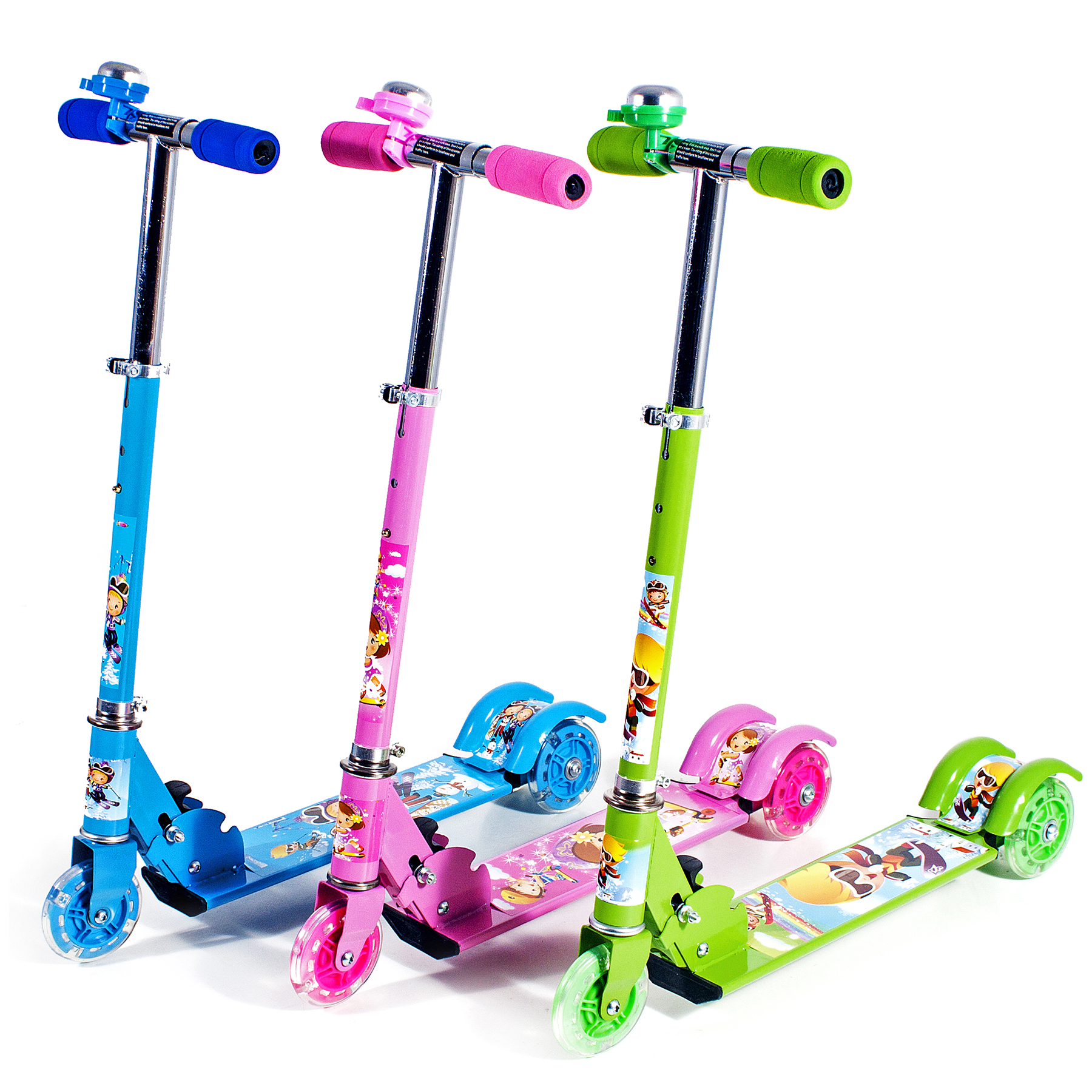 kinderroller kinder roller scooter tretroller cityroller dreirad farbwahl neu ebay. Black Bedroom Furniture Sets. Home Design Ideas