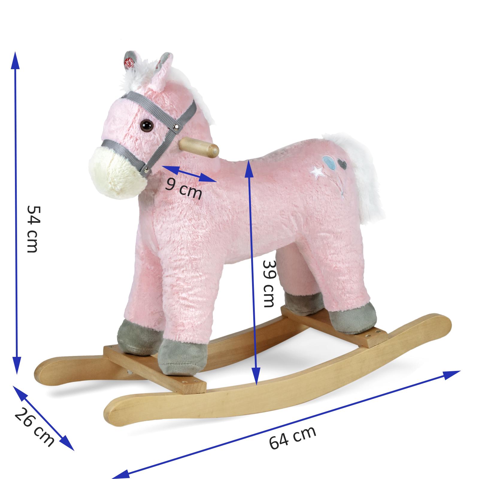 Schaukelpferd Schaukeltier Schaukel Pferd Plüsch Interactiv